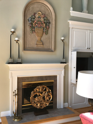 brass is back fireplace tall