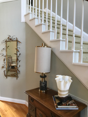 brass is back lamp stairs